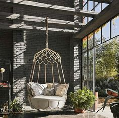 Outdoor Area by Roberti Rattan Outdoor Garden Furniture, Wicker Furniture, Outdoor Chairs, Outdoor Swing Chair, Luxury Furniture, Wicker Swing, Wicker Dresser, Hanging Furniture, Wicker Couch