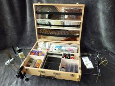 Amazon.com : Tie-Anywhere Portable Fly Tying Box Bench Station : Fly Tying…