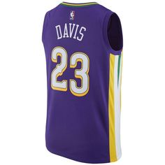 adidas Men's Anthony Davis New Orleans Pelicans City Swingman Jersey ($110) ❤ liked on Polyvore featuring men's fashion, men's clothing, men's activewear, men's activewear tops, navy, mens jerseys, mens nba jerseys and mens basketball jerseys
