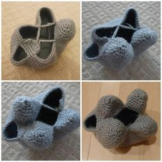 """Amigurumi technique for seamlessly creating legs with """"leg chains"""". 