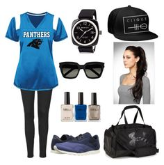 """""""Untitled #709"""" by tva-lpz ❤ liked on Polyvore featuring Topshop, Reebok Lifestyle, Under Armour, Briston and Yves Saint Laurent"""