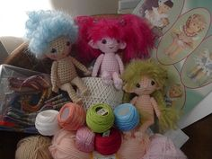 https://flic.kr/p/8FpL5J | Pocket Spirits for Christmas | For my nieces for Christmas; Skye, Cherry, and Willow :-)  The pattern for the crochet dolls is available free on my blog at:  www.byhookbyhand.blogspot.com