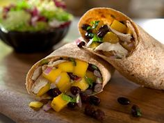 Spicy and sweet, this Caribbean Wrap is packed with lean, tasty and nutritious fillings like black beans, chicken breast, mango and macadamia nuts.