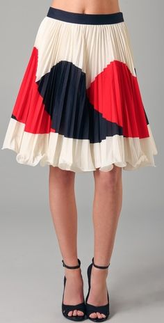 #Milly Justene skirt, $275...love the small pleats...picturing this with ladylike t-strap pumps