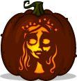 Corpse Bride pumpkin pattern - Corpse Bride - Pumpkin Carving Patterns and Stencils - Zombie Pumpkins!