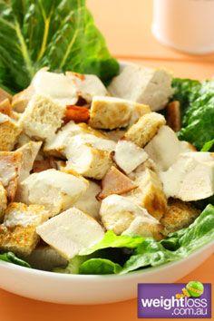 Healthy Dinner Recipes: Grilled Chicken Ceaser Salad. #HealthyRecipes #DietRecipes #WeightlossRecipes weightloss.com.au