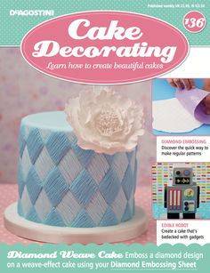 In this weeks issue of #MyCakeDecorating, we discover the quick way to make regular #patterns, and show you how to create an edible #robot bedecked with gadgets.