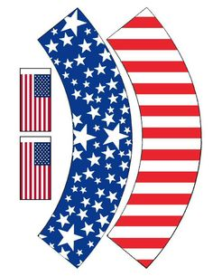 Sandra @ ribbonsandfavors.com Free printable cupcake wrappers for the 4th of July.