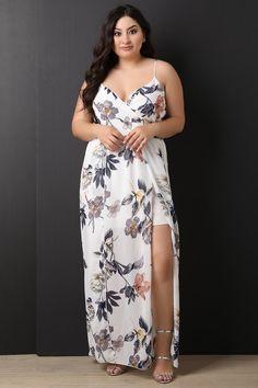 514da7c115c8 LARGE SIZE FLORAL DRESS Plus Size Maxi Dresses
