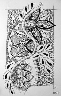El Peregrino: Zentangle, arte para meditar