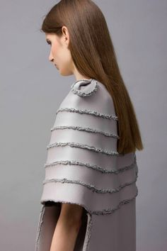 Dress with chunky soldered seams - innovative stitch techniques; fabric manipulation; textiles for fashion // Zita Merenyi