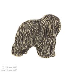 Polish Lowland Sheepdog dark dog pin limited by ArtDogshopcenter Dog Lover Gifts, Dog Lovers, Polish Lowland Sheepdog, Pet Dogs, Pets, Dog Pin, Poodle, How To Look Better, Lion Sculpture