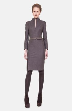 Akris Belted Stretch Flannel Dress available at #Nordstrom