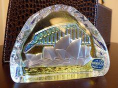 BOHEMIA GLASS VINTAGE Sidney Opera House Paperweight / Glass Art by JusFunkinAround on Etsy Sidney Opera, Vintage Bohemian, Vintage Art, Bohemia Glass, Glass Paperweights, Paper Weights, Opera House, Glass Art, Sydney