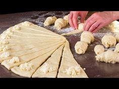 Croissant gyorsan- törékeny és puha, tökéletes egy finom reggelihez!| Ízletes TV - YouTube Croissants, Potato Rolls Recipe, Pastry And Bakery, Antipasto, Snacks, Cake Cookies, Ricotta, Finger Foods, Camembert Cheese