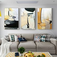 Art Deco Home, Yellow Painting, Wall Art Pictures, Framed Wall Art, Furniture Design, Abstract Art, Modern Art Paintings, Wall Decor, Home Decor