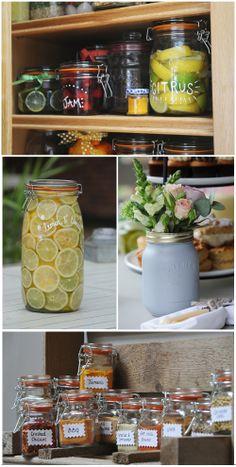 Lots of Kilner jars and bottles = Lots of creative ideas!