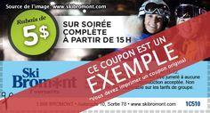 Coupon-rabais Ski Bromont - 2 à 10$ de rabais - Échantillons gratuits Québec