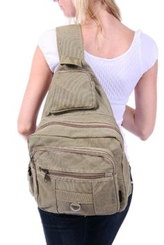 Canvas Stylish Cross Body Backpack