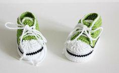 Baby Turnschuhe 9 cm von Die Wollpiratin auf DaWanda.com