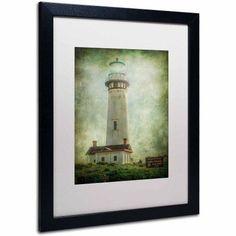 Trademark Fine Art Pigeon Point Light Station by Erik Brede, White Matte, Black Frame, Archival Paper, Size: 11 x 14