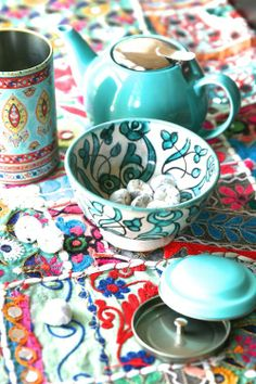 Tea@the curated magazine #tea #teal #mint #teaparty