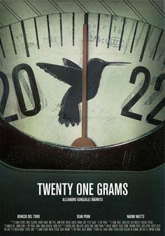 """21 grammes, il peso dell'anima, pare che morendo, tutti perdiamo 21 grammi. dal Film """"21 grammi"""""""
