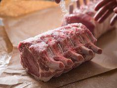 Reverse-Sear for the Juiciest Bone-In Pork Loin (Rack of Pork) - Schweinsbraten Pork Loin Crown Roast Recipe, Bone In Pork Roast, Grilled Pork Roast, Pork Loin Recipes Oven, Baked Pork Loin, Pork Loin Ribs, Rub Recipes, Keto Recipes, Rack Of Pork