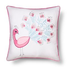 Image 1 of Peacock Pillow, Feminine Bedroom, Pastel Designs, Cheap Bed Sheets, Pink Quilts, Toddler Quilt, Cotton Sheet Sets, Little Girl Rooms, Quilt Sets