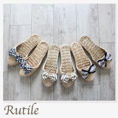 天然素材スリッパ デザインリボン   Rutile