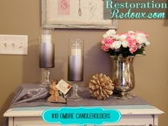 Dollar Tree Ombre Candleholders http://www.restorationredoux.com/?p=7655