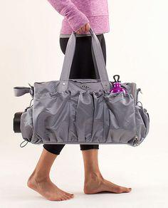 gym bag or a great diaper bag. Workout Essentials, Workout Gear, Yoga Accessories, Fashion Accessories, Cute Gym Bag, Unique Handbags, Yoga Mat Bag, Branded Bags, Gym Wear