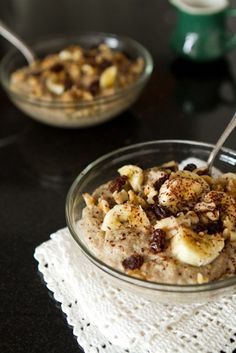 Gooey Banana Bread Batter Instant Steel Cut Oatmeal