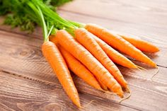 Carrots........I like eating raw carrots when I want something nutritious and sweet. Snacking on only one cup can not only fill you up, but also prevent your body from harmful free radicals and nourish your body with beta-carotene that will make your skin glow. Carrots make amazing snacks when eaten alone or with some peanut butter or almond butter. Chop some carrots and put them into baggies to carry out on the beach.
