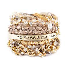 Golden Girl Stack Bracelets... a large selection of trending bracelets and bangles... ettika.com
