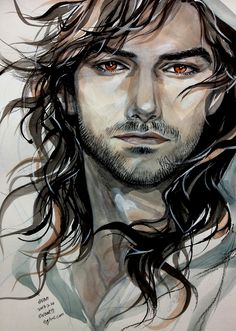 Saw this on tumblr, and kudos to the artist! This is BEAUTIFUL. Not sure who did it, but just gorgeous :) - it's Kili, in case anyone somehow was an ostrich :P