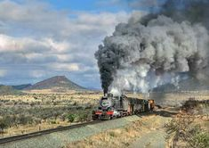 Train from Queenstown to Bredasdorp, Septemer, Republic of South-Africa Steam Engine, Steam Locomotive, South Africa, Trains, Toe, Train, Finger