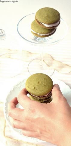 Matcha Whoopie Pies with Buttercream Icing Filling