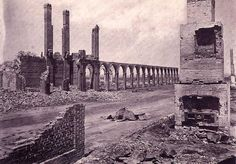 1864 Sherman's March burned Charleston, SC to the ground. Ruins of the railroad station. Us History, Black History, History Facts, American Civil War, American History, Shermans March, Fort Sumter, Confederate States Of America, Civil War Photos