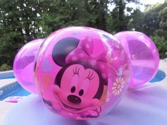 Anyone have a crush on Minnie? Minnie mouse and pink beach balls decorated the pool for our Minnie Mouse pool party. Pool Party Games, Pool Party Kids, Pool Party Decorations, Kids Party Themes, Party Ideas, Mickey Mouse Cupcakes, Mickey Cakes, Minnie Mouse Party, Mouse Cake