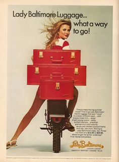 Lady Baltimore Luggage advertisement from Co-ed magazine, May/June 1968.