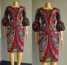 African Print Midi Dress- Balloon Sleeve – Strapless – Ankara Print – African Dress – Hand… – African Fashion Dresses - African Styles for Ladies African Fashion Designers, African Inspired Fashion, African Print Fashion, Africa Fashion, African Print Dresses, African Fashion Dresses, African Dress, African Outfits, African Clothes