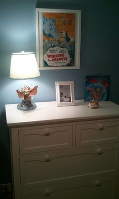 Dumbo lamp old Disney poster