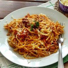 Tonhalas-paradicsomos spagetti Recept képpel - Mindmegette.hu - Receptek