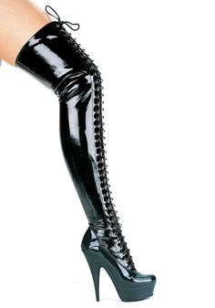 Ellie Shoes E609Olivia 6 Thigh High Boots Black / 9 * For more information, visit image link. (This is an affiliate link) #ThighHighBoots