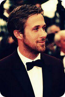 Ryan Gosling. that scruff + tuxedo, oooh.