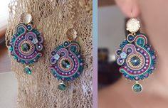 Serena Di Mercione Creation earring, soutache