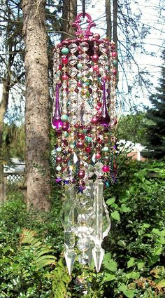 Bohemian Stars Antique Crystal Wind Chime by sheriscrystals, $239.95