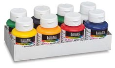 Liquitex Soft Body Acrylics are naturally creamy and fluid. That makes them just right for tole and decorative arts, stenciling, murals, silk-screening, calligraphy, printmaking, graphic design, sculpture, photo retouching, hard edged painting, watercolor techniques, fabric painting without heat setting,