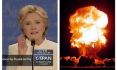 Meanwhile, Hillary shows off by giving away America's nuclear response time during debate